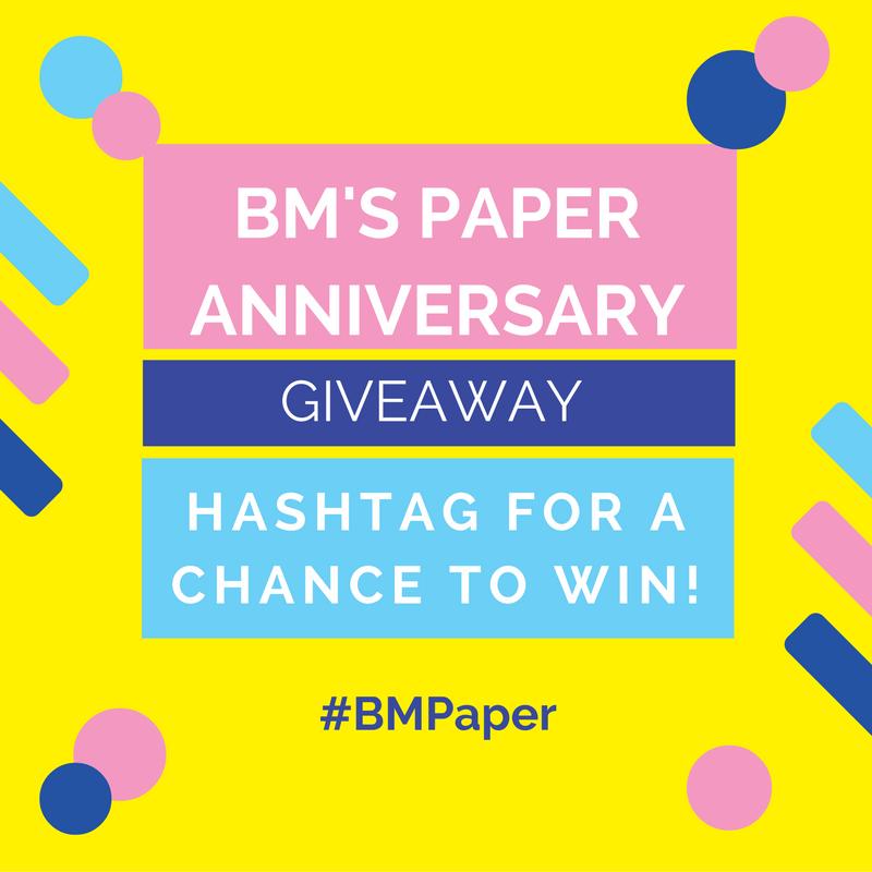 #BMPaperAnniversary – March 1