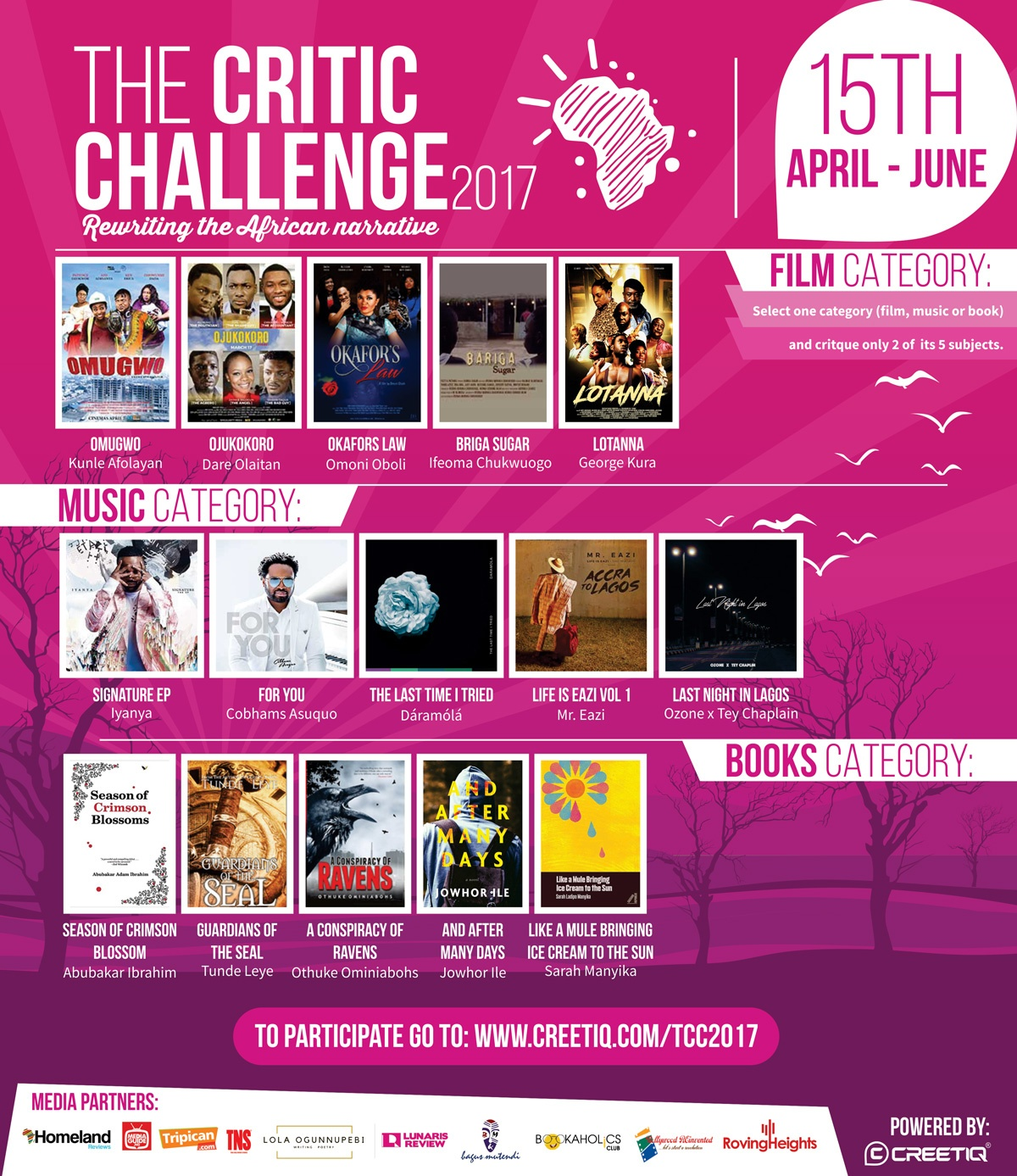 #TheCriticChallenge2017 First Edition Kicks Off!!!!