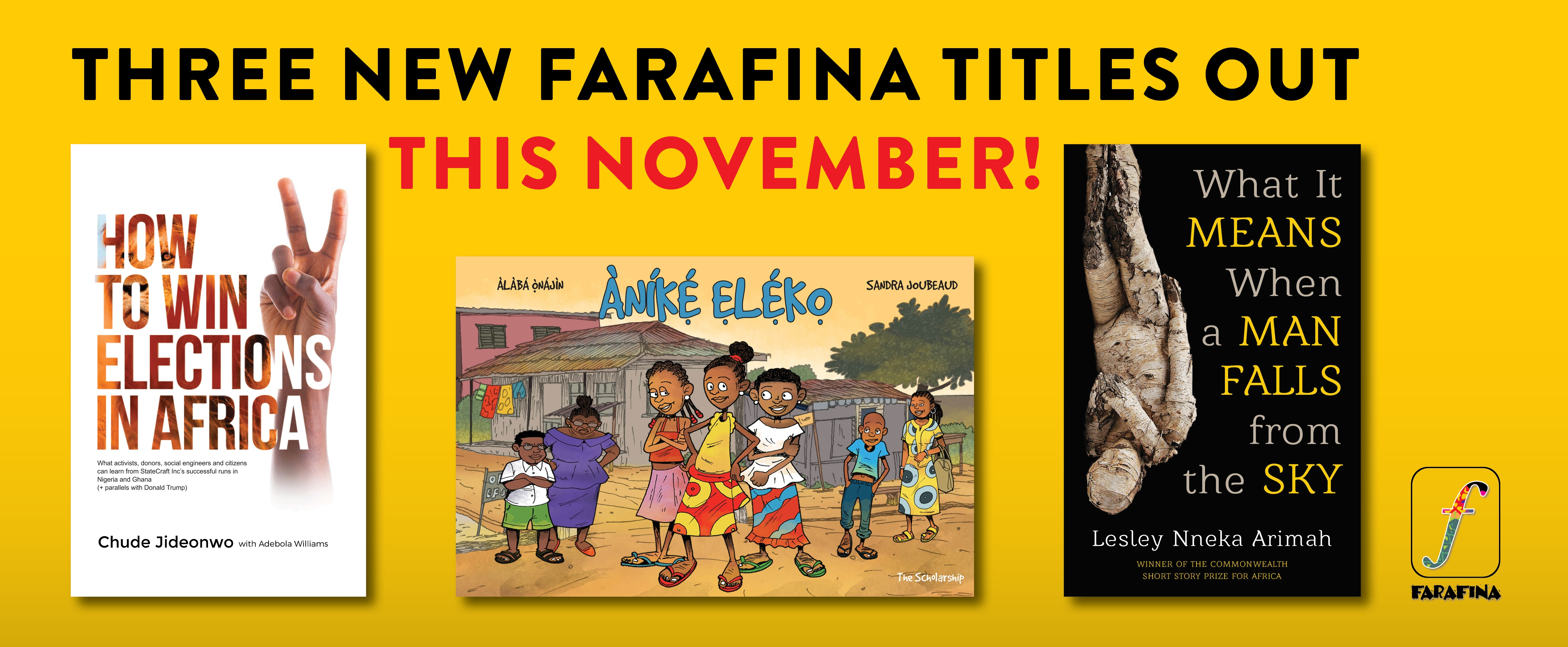Farafina Books Releases Three New Titles This November