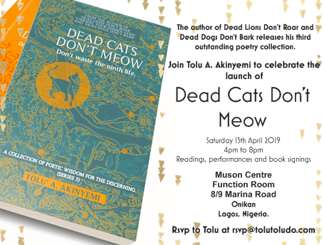 Dead Cats Don't Meow Lagos Launch – 13th April, 2019